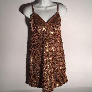 Bronze sequin partywear sz M